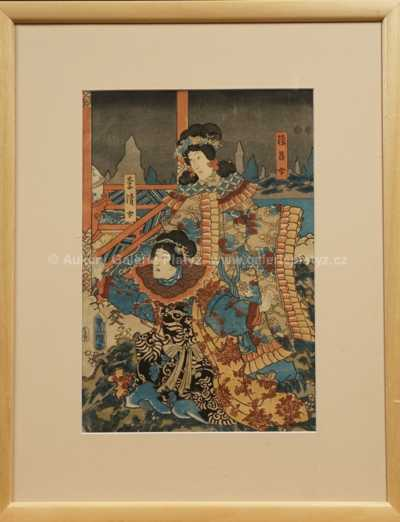 (Utagawa) Kunisada - Kabuki triptych