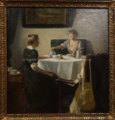 Heinrich Zschille - Dámy u čaje