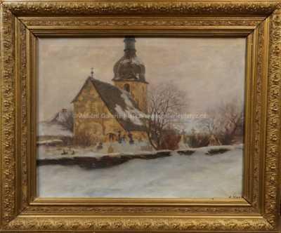 Karel Schade - Kostelík v zimě