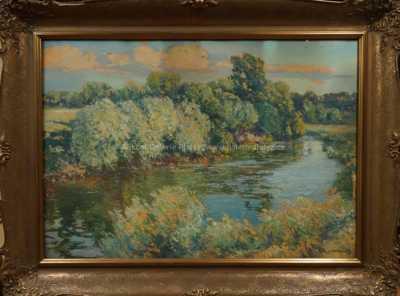 Řeka v létě