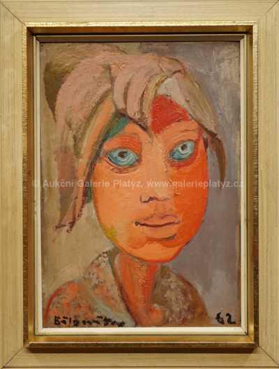 Andrej Bělocvětov - Portrét dívky