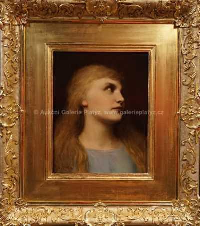 Gabriel Cornelius von Max - Portrét dívky