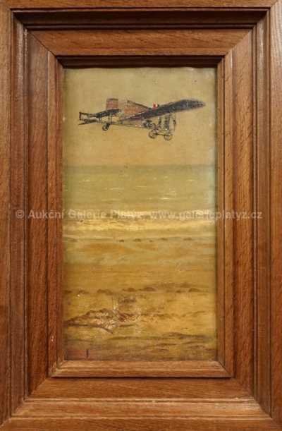 Neznačeno - Louis Blériot nad La Manche