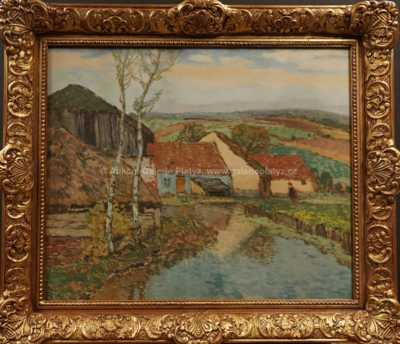 Josef Ullmann - Stavení u rybníka