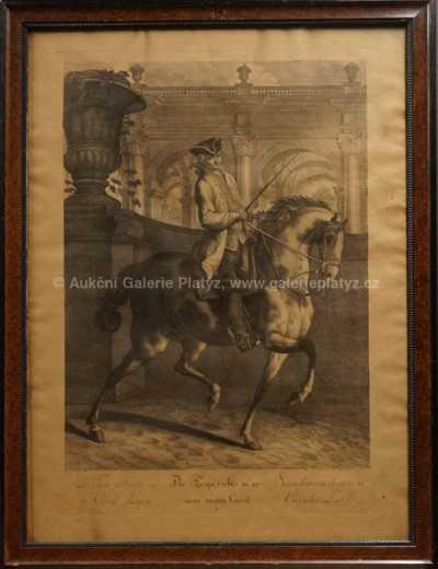 Autor neurčen - Jezdec na koni