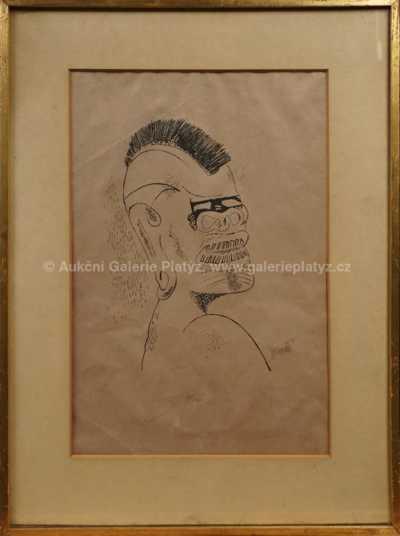 František  Tichý - Hlava černocha
