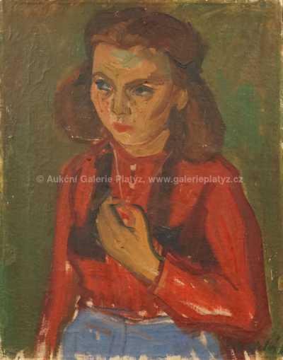 Autor neurčen - Portrét dívky