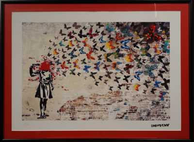 Banksy - Headshot Butterfly