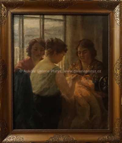 Emanuel Knížek - Dívky u stolu