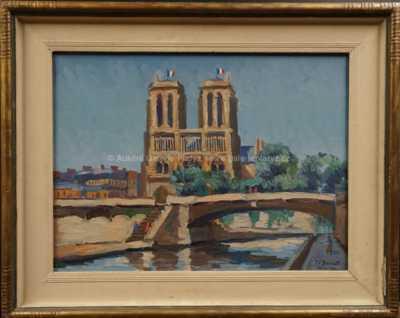Josef Václav Směšný - Barnet - Paris - Notre Dame