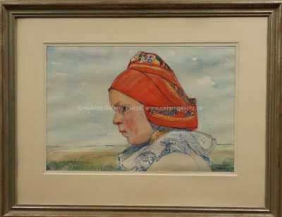 Vincent Plesnivý - Dívka v šátku