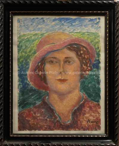 Alois Bílek - Dáma v klobouku