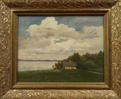 Jan  Novopacký - Jezero Atterzské od Steinbachu