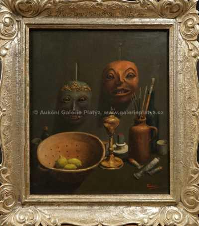 Autor neurčen - Zátiší s maskami
