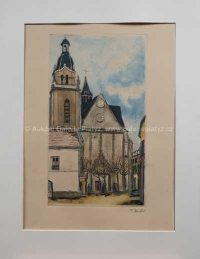 Maurice Utrillo - Kostel v Limours