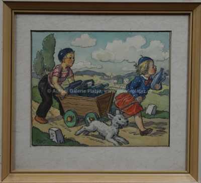 Marie Fischerová – Kvěchová - Děti s vozíkem