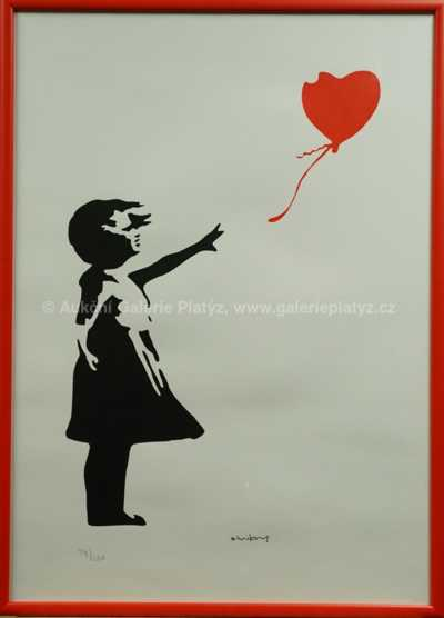 Banksy - Girl with Red Heart Baloon
