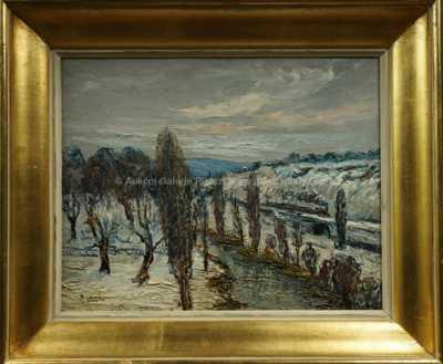 Autor neurčen - Zima na řece