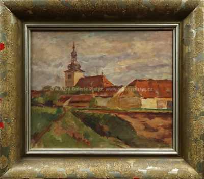 Vincenc Beneš - Vesnice s kostelíkem