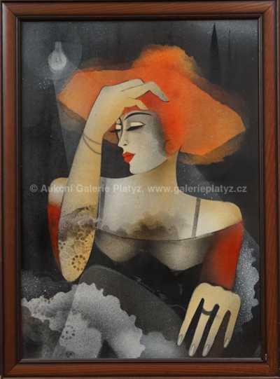 Ivana Barazi - Dáma v klobouku