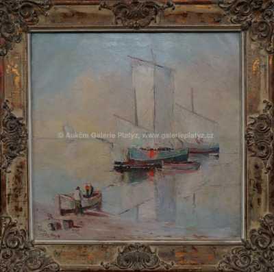 Josef  Svoboda - Rybáři za svítání