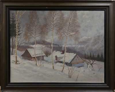 František Karel Hron - Krkonošská samota v zimě