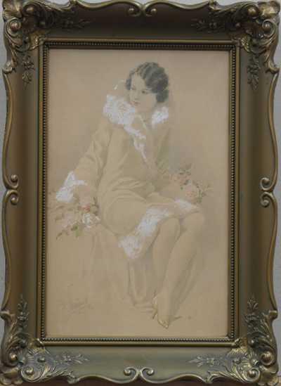 Karel Šimůnek - Sedící dívka
