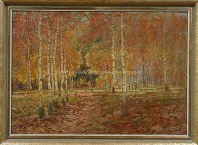 Antonín  Augusta - Březový háj na podzim