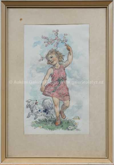 Marie Fischerová – Kvěchová - Dívka s psíkem