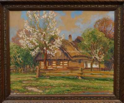 Karel Langer - Roubenky pod rozkvetlými stromy