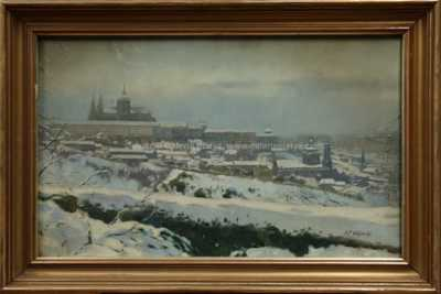 Václav F. Ulšmíd - Pražský hrad v zimě