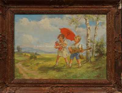 Oldřich Vlach - Děti na procházce
