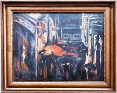 Karel Souček (Bor) - Ulice v dešti