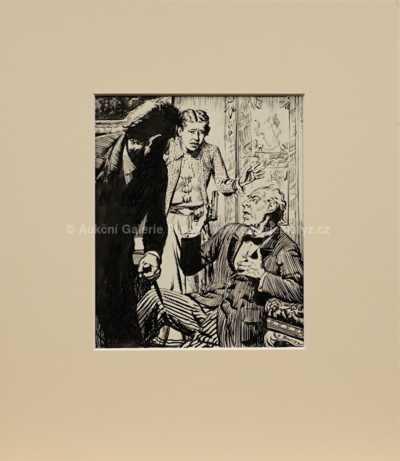 Zdeněk Burian - Návrh ilustrace
