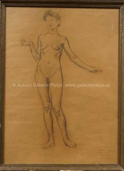 Jan Preisler - Studie ženského aktu