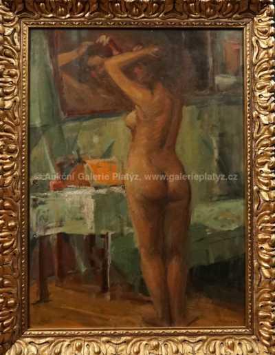 Eduard Světlík - Akt před zrcadlem