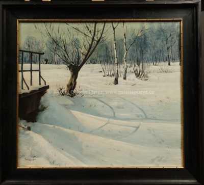 Gustav  Porš - Zasněžený potok