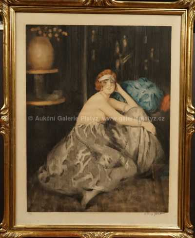 William Ablett - Odpočívající dívka