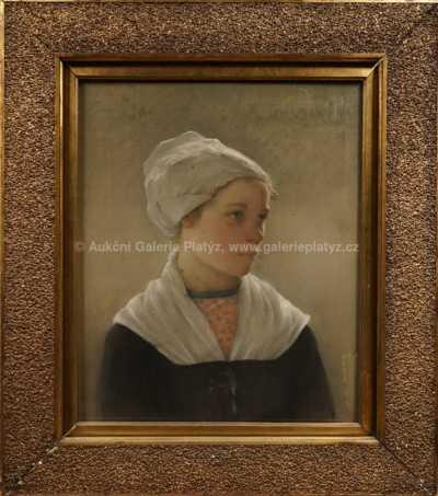 Lev Lerch - Portrét dívky