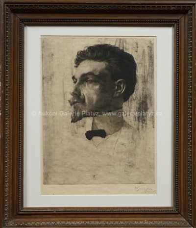 František Tavík Šimon - Portrét muže