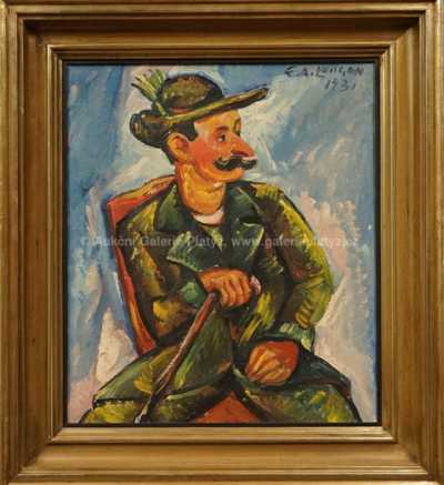 Emil Artur Pitterman - Longen - Portrét Vlasty Buriana