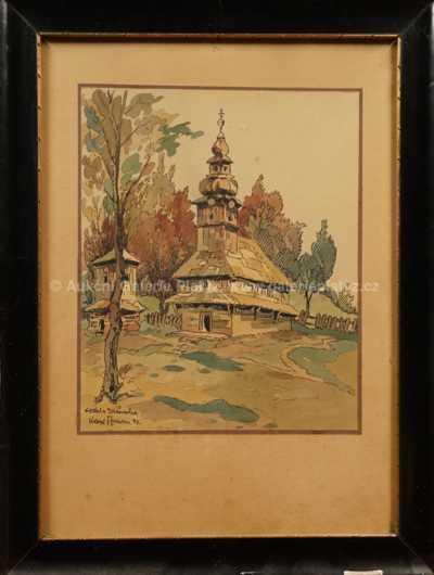 Karel Toman - Dřevěný kostelík