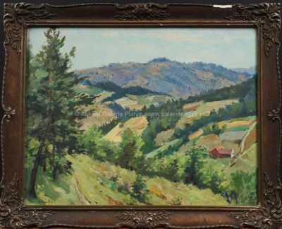 Gustav  Porš - Pohled do krajiny