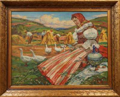 Vlastimil  Košvanec - Dívka v kroji