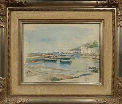 Autor neurčen - Loďky v přístavu