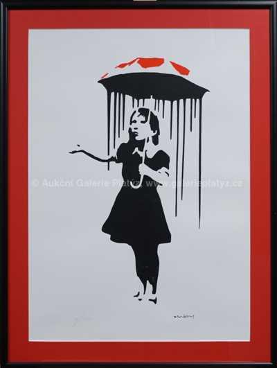 Banksy - Dívka s dneštníkem