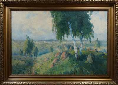 Gustav  Porš - Břízy na návrší