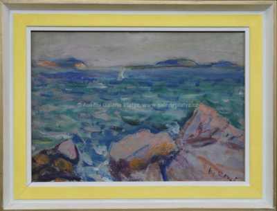 Vincenc Beneš - Skály na pobřeží