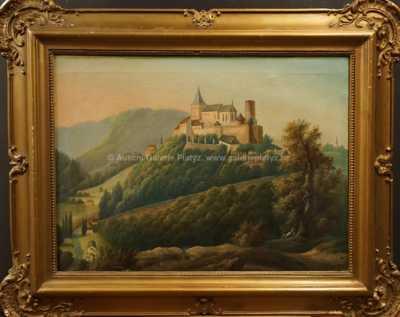 Neznačeno - Romantická krajina s hradem