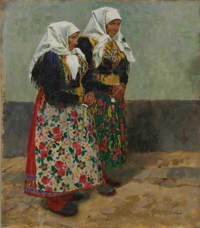Václav Malý - Krojované sousedky